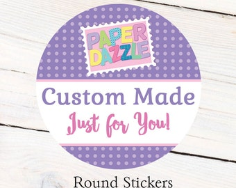 Custom Personalized Stickers - Custom Round Labels