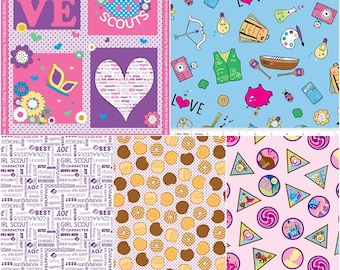 Girl Scouts Cotton Fabric by Riley Blake! [Choose Your Cut Size]