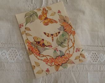 Floral fabric sticker / printed fruit and butterflies / printing on fabric