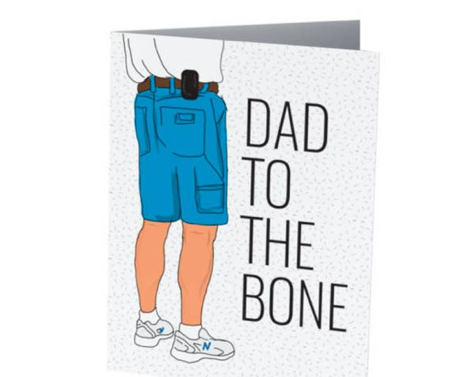 Featured listing image: DAD to the bone | Father's Day Card | Badass Dad