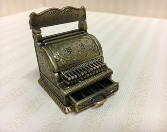 Dolls House Miniature Metal Cash Register
