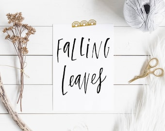 Falling Leaves Printable , Fall Wall Art,Printable Wall Art, Fall Wall Print,Autumn Wall Print, Digital Download ,Falling Leaves Home Decore