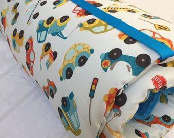 Nap Mat with Pillow and Blanket, Toddler Nap Mat, Preschool Sleeping Mat, Daycare Nap Mat, Cars Nap Mat, Cover Kindermat, Boys Nap Mat