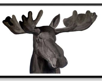 Mr. Moose Fine Art Print - Wall Art - Art Print - Nature Art - Animal Art