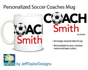 Personalized Soccer Coaches Coffee Mug