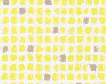 SALE - Pocket Patch Yellow - Around the Block - Cloud9 Fabrics - Organic Cotton - Poplin by the Yard