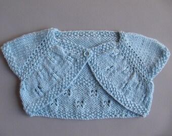6/9 months blue sleeveless Bolero