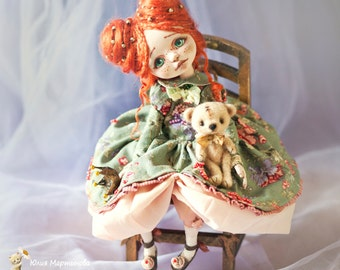 Princess Anna..ART DOLL.Collectible art doll ooak.made to order 6 -7weeks.26 cm tall.