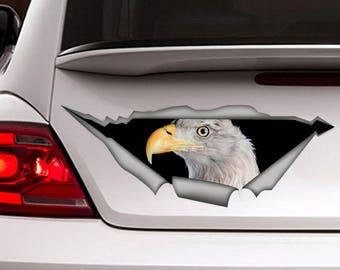 Eagle car decal , bird car decal,  Vinyl decal, bird sticker, funny  decal, eagle sticker
