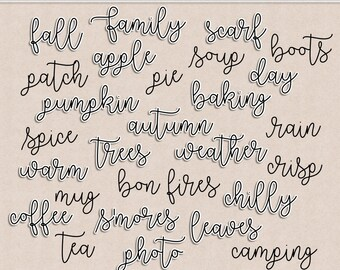 Word Pack No. 1 - 54 Autumn Words - Silhouette Compatible