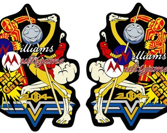 Multi Williams Arcade Side Art Arcade Cabinet Graphics For Reproduction