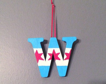 Chicago Cubs Win Chicago Flag Ornament Playoffs || World Series Champions || Bryant || Rizzo || Arrietta || Great for Valentine's Day