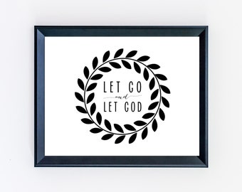 Let Go and Let God Print - Anxiety Print