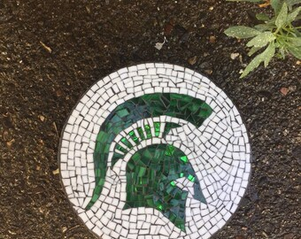 Custom designed mosaic garden stepping stones