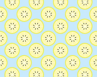 Just Add Sugar With A Twist of Lemon Blue - Riley Blake Designs - Yellow Fruit - Quilting Cotton Fabric - choose your cut