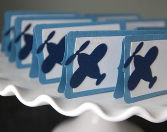 Airplane Food Labels, Place Cards, Airplane Party, Airplane Baby Shower, Airplane Theme, Airplane Birthday,Blue and Navy12 Pcs