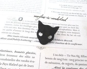 PIN brooch Black Cat Head