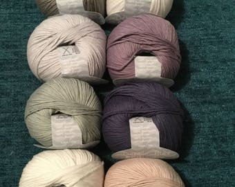 4 x 50g Debbie Bliss Eco Baby Organic Cotton Knitting Wool for Doll Cardigan Patterns