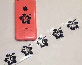 6X Hibiscus Flower Car Window Vinyl Decal Sticker cell phone ipod laptop