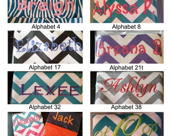 EmBrOiDeReD Chair Pockets // You Choose The Style //  School Supplies // Chair Storage / Elementary School / Seat Sacks // Chevron Duck