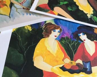 Itzchak tarkay art (10pc) Collection  (1935-2012) portrait ladies lithograph