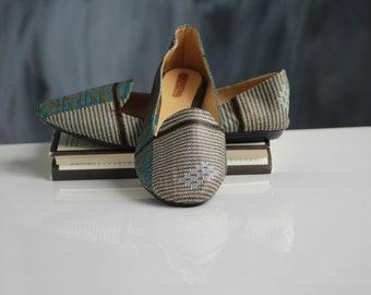 African print fabric shoes for women/ballerines/ankara print