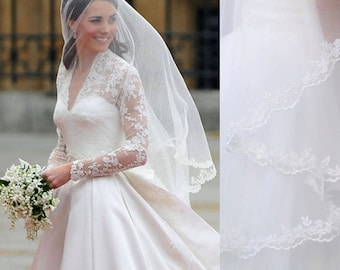 kate middleton veil inspired, 3M, Chapel length veil, Princess kate veil, 3M Veil,  LA15011-3M