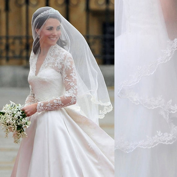 Kate Middleton Veil Inspired 1.5M Princess Kate Veil