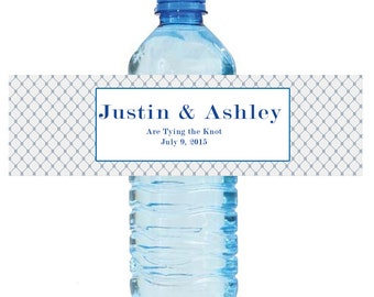 Tying the Knot Wedding Print Water Bottle Labels Great for Engagement Bridal Shower Anniversary Party 2 sizes available