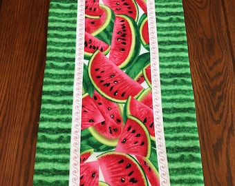 Watermelon Table Runner, Summer, Watermelon, Picnic Table decor, Wedding, housewarming, Gift idea