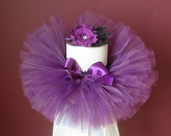 Infant Tutu Baby Tutu Toddler Tutu Plum Tutu Baby Gender Reveal Baby Shower Gift with Matching Headband- Can Be Made In Any Size!