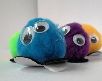 """1.5"""" Warm Fuzzies / Warm Fuzzy Pom Pom Critters (Set of 50) w/ Adhesive Sticker Feet Option"""