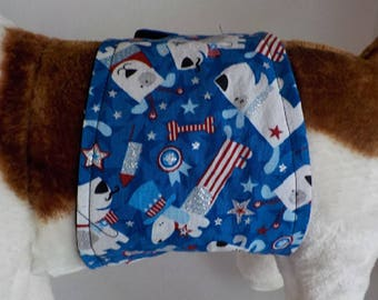 Belly Band For Male Dog-  Pet Diaper - Doggie Wrap Pants - Contoured -  Dog Clothes - Dog Accessory - Patroitic Dogs - Belly Band