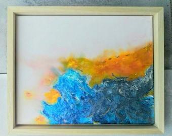 """Abstract mixed media painting """"Symbiosis"""""""