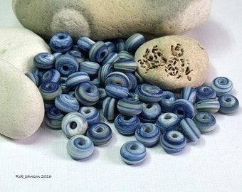 Silent Bay, Lampwork Spacer Beads, SRA, UK