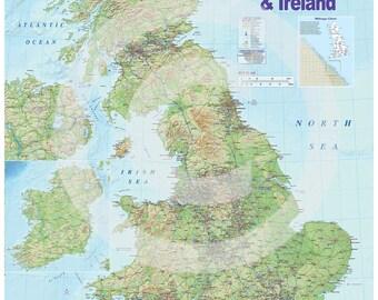 United kingdom map Etsy