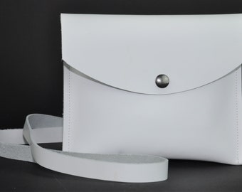 White Latigo Leather Pouch