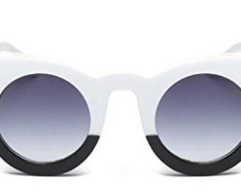 Black and white cat eye glasses