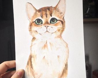 Custom Watercolour Pet Portraits