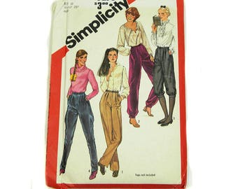 Uncut Sewing Pattern Simplicity 5236 Pants Knicker Jodphurs 1981