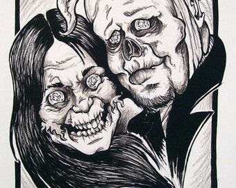 Custom ZOMBIE Caricature From a Photograph