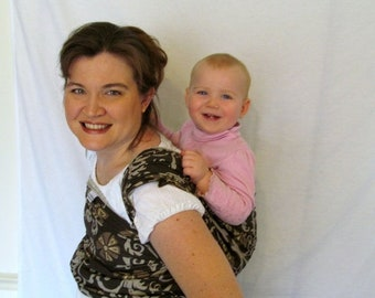 SALE Woven Baby Wrap Linen Blend Carrier - Size 4 or 8 -  - DVD included