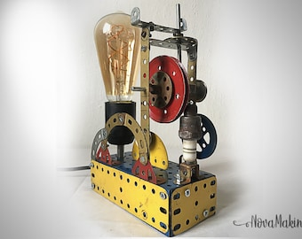 Lamp industrial steampunk MeKano old toy