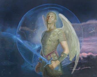 Archangel Michael Greetings Card