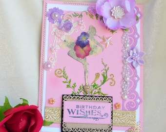 Cards with real flowers