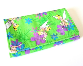 Tinkerbell Inspired Burp Cloth with Terry Cloth Backing
