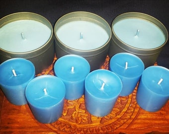 Set of 6 Votive Candles - Scented, Dyed, Beeswax or Soy - Aromatherapy Essentials