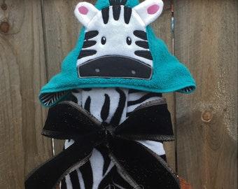 Zebra Hooded Towel