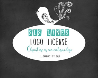 Limited commercial license for non-exclusive logo usage, single clipart set only, by SLS Lines
