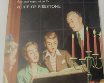 Favorite Christmas Carols-Voice of Firestone Booklet 1957